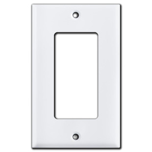 1 Rocker Switch Plate - White