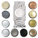 Lutron Rotary Light Dimmer Switches Gloss D-600RH