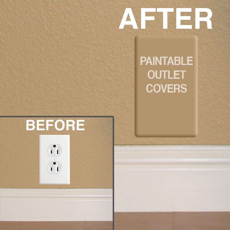 Charming Paintable Outlet Covers