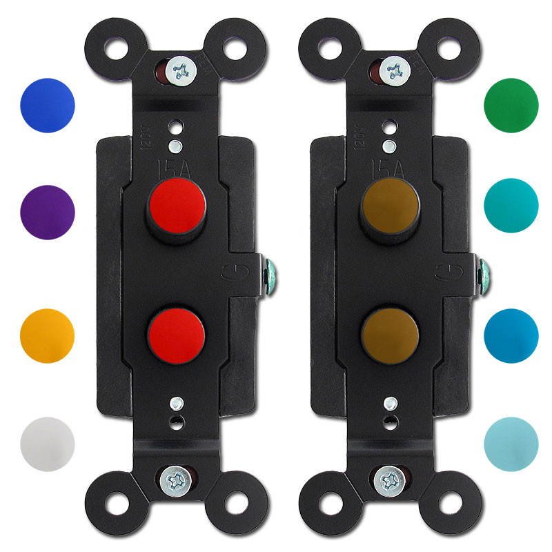 Color Knob Antique Style Push Button Light Switches