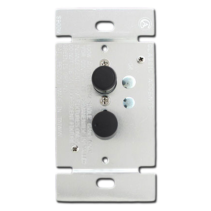 Black Push Button Light Switch Dimmers Single Pole 600 Watt