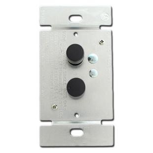 Black Push Button Dimmers - 3 Way 600 Watt