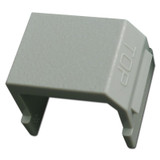 Gray Snap-In Blank for Hubbell Frame