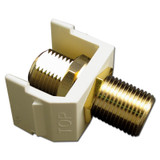 Ivory Cable TV Jack for Hubbell Frame