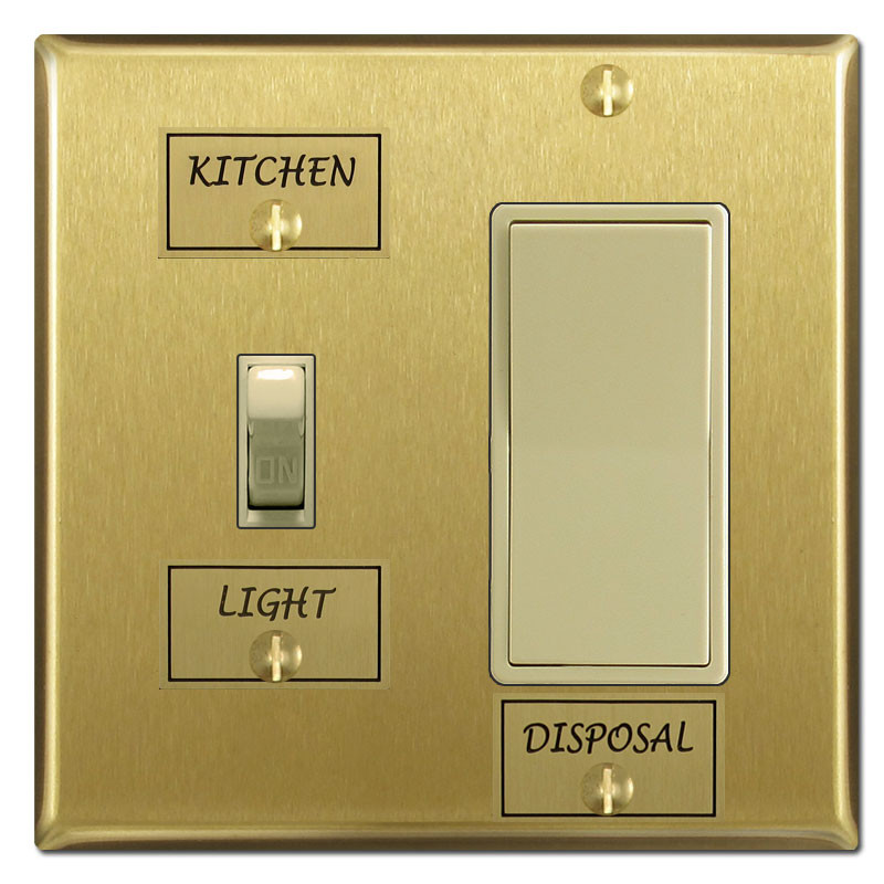 Brass Switch Identifier Name Tags For Switchplate