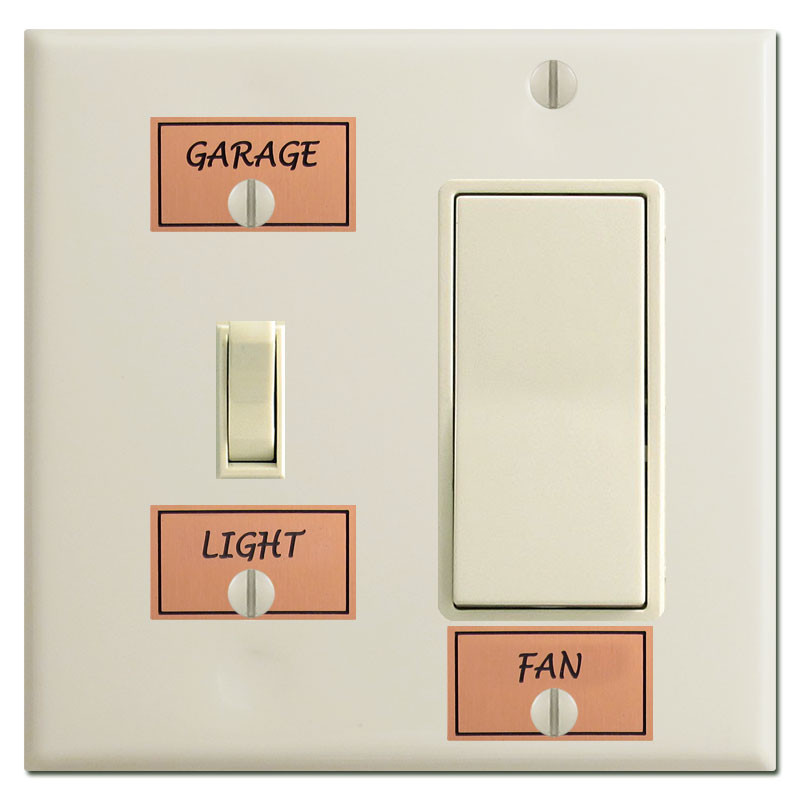 What's New At Kyle Design: Switch Plate Labels « Color