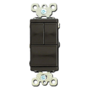 Brown Combination 3 Rocker Switch Device Kyle Switch Plates