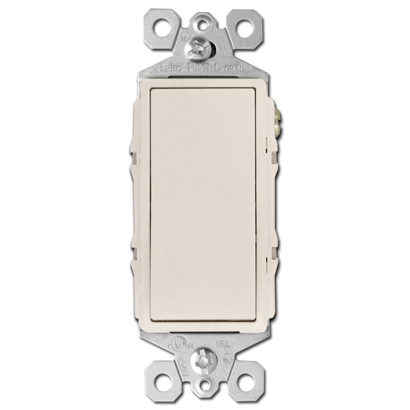 Light Almond 4 Way Rocker Switches Kyle Switch Plates - 4 Way Rocker Light Switch