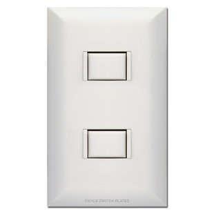 2-Switch Touch-Plate 5000 Low Voltage White Switch & Plate