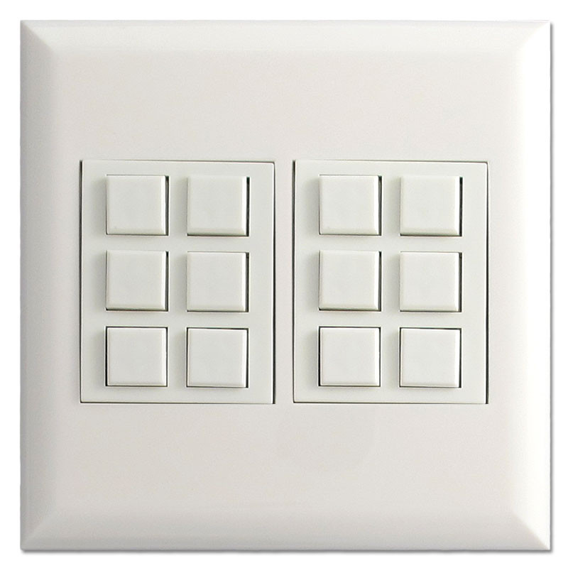 Touch Plate Switch Control Low Voltage Classic 12 Button White