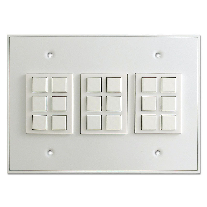 Touch Plate Low Voltage Switch Unit Classic 18 Button White