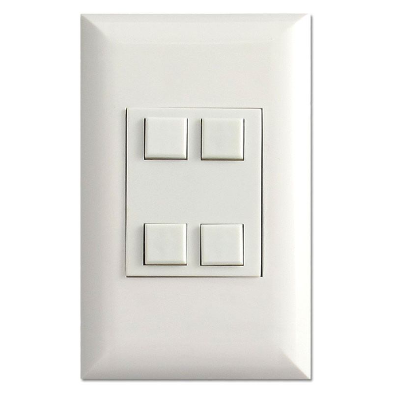 Touch Plate White Classic Button Low Voltage Switches Cla B W on Remcon Low Voltage Switches