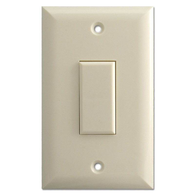 Genesis Touch Plate Light Switch Low Voltage 1 Button Almond