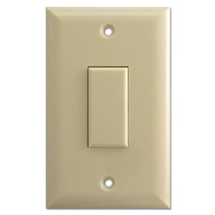 Ivory Touch-Plate Genesis Single Low Voltage Switch