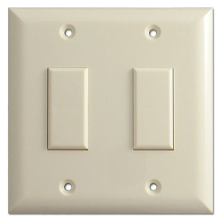 Almond Two Button Touch-Plate Genesis Low Voltage Switch Plate