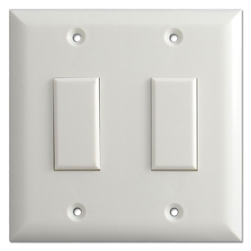 Genesis Low Voltage Touch Plate Light Switch Two Button White