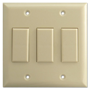 Ivory Three Button Touch-Plate Genesis Low Voltage Switch