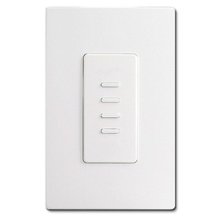 White Ultra Series Touch Plate - 4 Switch Control Station