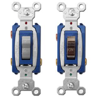 3 Way 15A Toggle Light Switches - Pass & Seymour