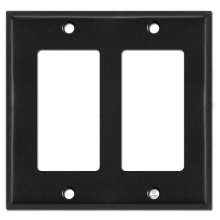 2 Decora Rocker Switch Plate Cover - Black