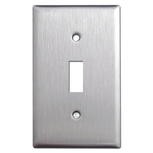 Single Toggle Wallplates - Satin Stainless Steel