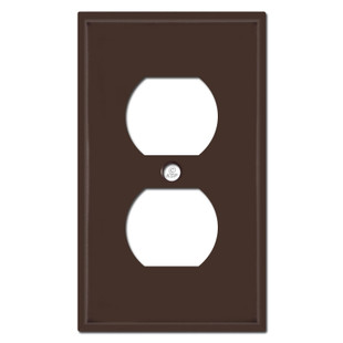 1 Duplex Outlet Cover Plates - Brown