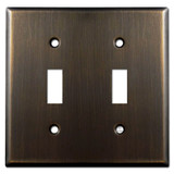 2 Toggle Switch Plate - Oil Rubbed Bronze