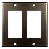 2 Decora Switch Plate - Oil Rubbed Bronze