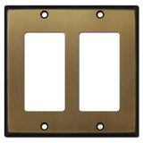 2 Decora Switch Plate - Antique Brass