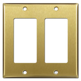 2 Decora Rocker Wall Plates - Satin Brass