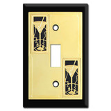 Party Theme Switch Plates with Martini Glasses