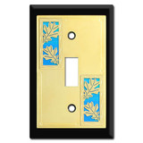 Fall Decor - Switch Plate with Oak Leaves Design