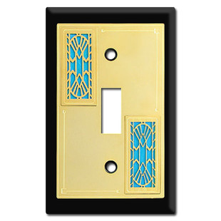 Decorative Switch Plates with Art Deco Fans