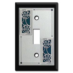 Decorative Switch Plates with Caffeine Molecule for Scientists