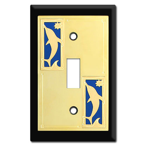 Dolphin Switch Plate Covers