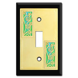 Swirly Vine Decorative Switch Plate