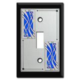 Swirly Ribbon Design Switch Plate