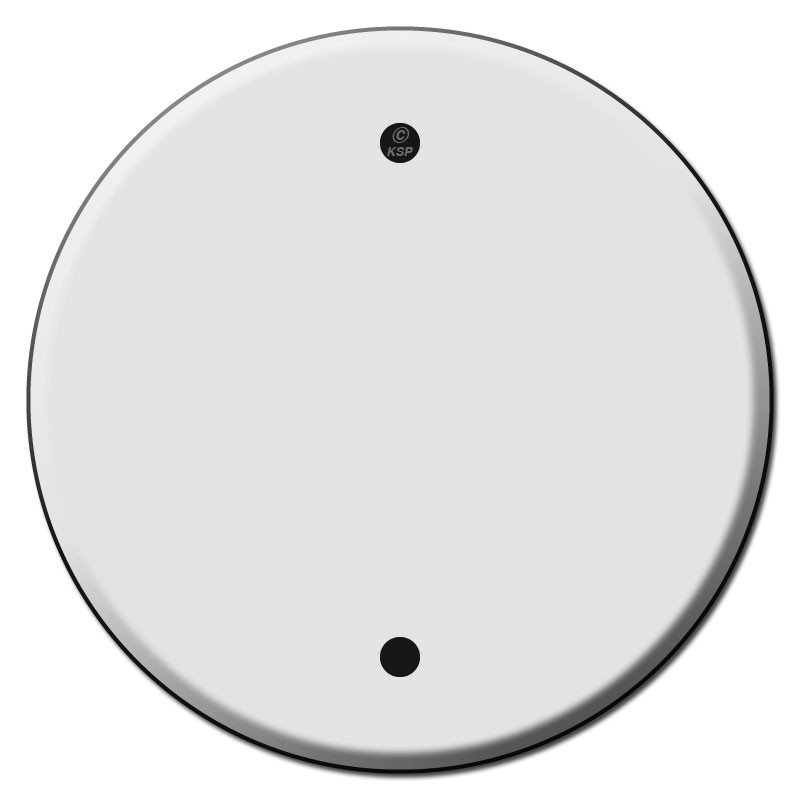 Round Blank Ceiling Outlet Wall Plate Covers For 4 Inch