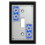 Soccer Theme Decorative Switch Plates with Soccer Balls