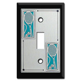Switch Plates with Tennis Rackets