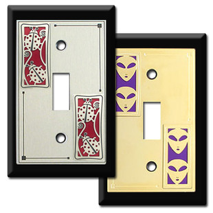 Black Switch Plates with Decorative Designs