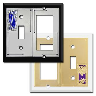 Toggle Rocker Combo Decorative Switch Plate