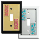 Decorative 1-Toggle Switch Plates