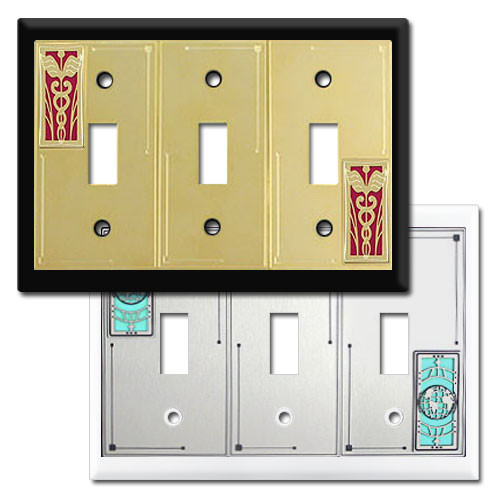 3 toggle decorative switch plate - Decorative Switch Plates