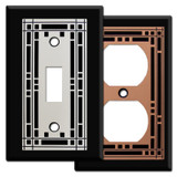 Black Mission Design Switch Plates & Outlet Covers