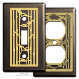 Bronze Switch Plates with Bamboo Design