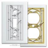 White Bamboo Theme Switch Plates