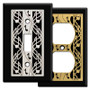 Black Switch Plates with Musical Clef