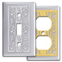 Chrome Music Clef & Notes Decorative Switch Plate