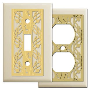 Ivory Switch Plate with Music Notes
